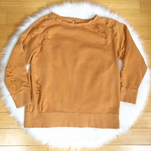 Free People Destroyed Oversized Sweatshirt M*